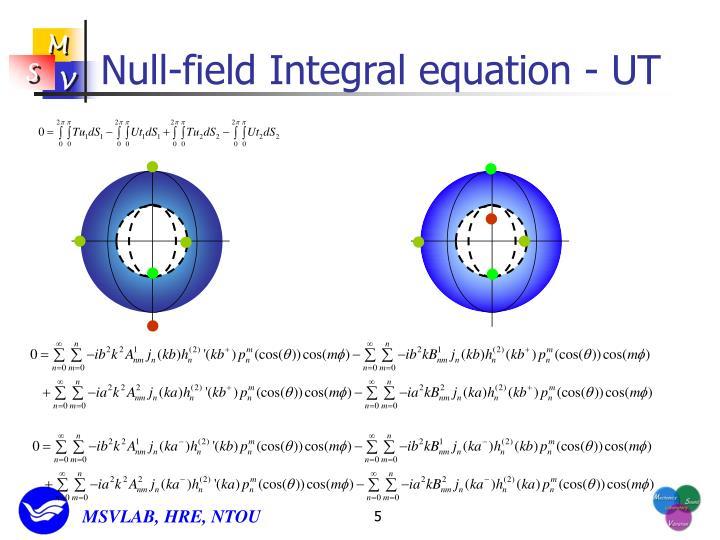Null-field Integral equation - UT