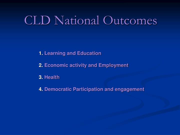 Cld national outcomes