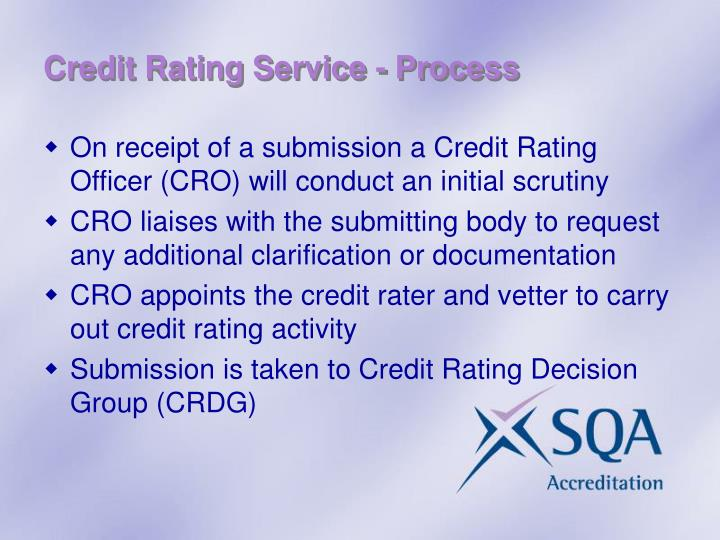 Credit Rating Service - Process