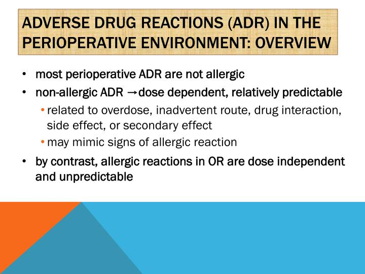 Adverse drug reactions (ADR) in the