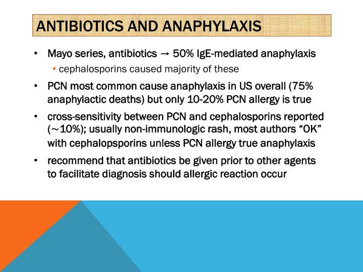 Antibiotics and anaphylaxis