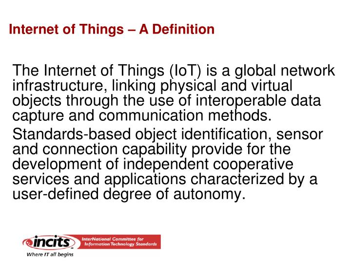 Internet of Things – A Definition
