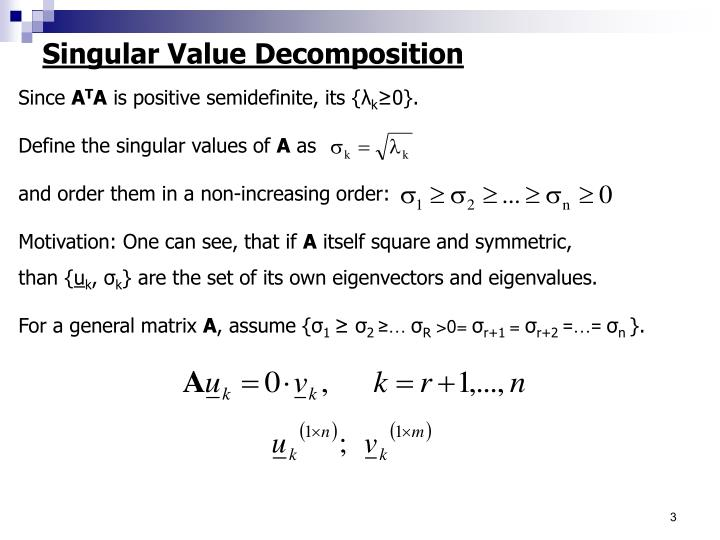 Singular Value Decomposition
