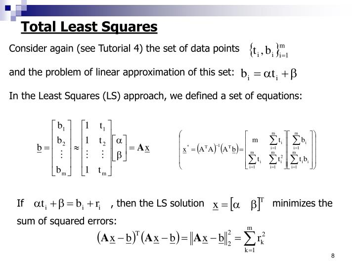 Total Least Squares