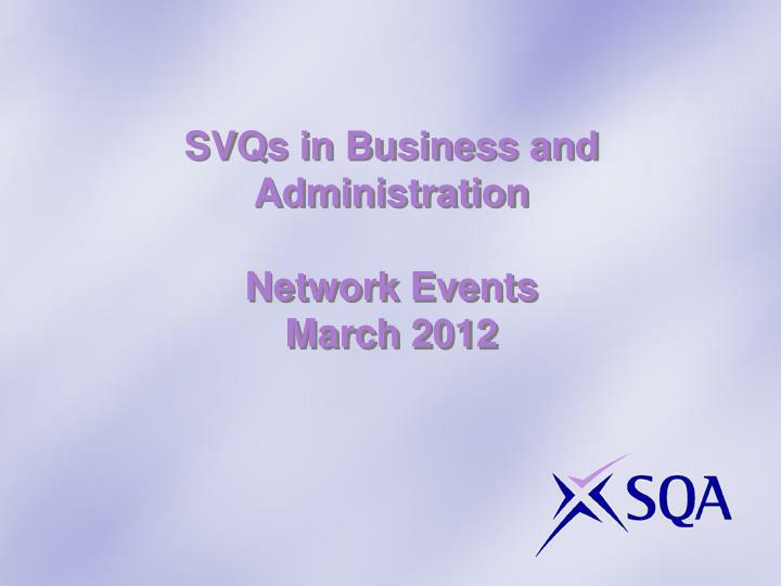 SVQs in Business and Administration