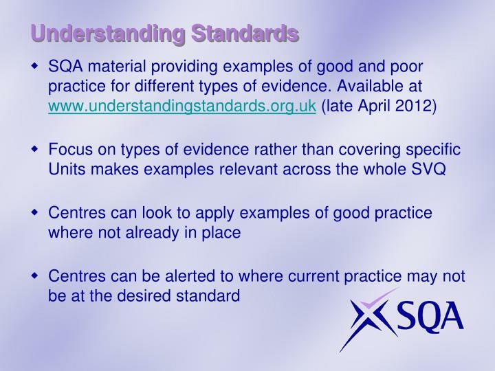 Understanding Standards