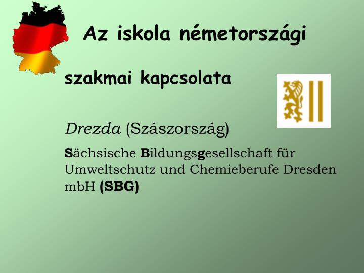 Az iskola németországi