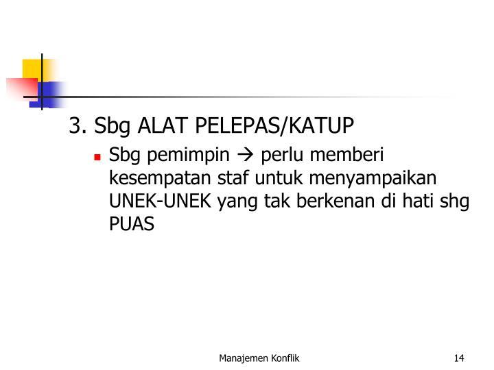 3. Sbg ALAT PELEPAS/KATUP