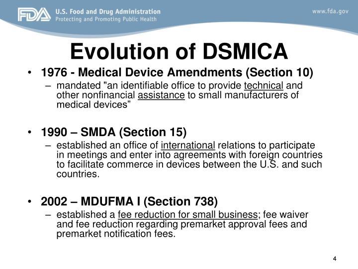 Evolution of DSMICA