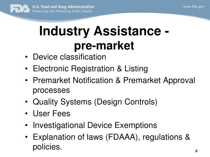 Industry Assistance -
