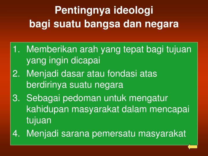 Pentingnya ideologi