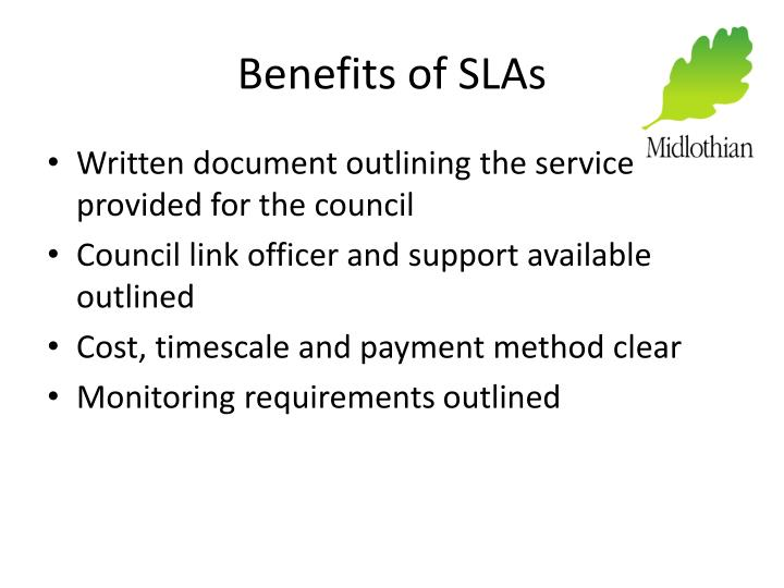 Benefits of SLAs