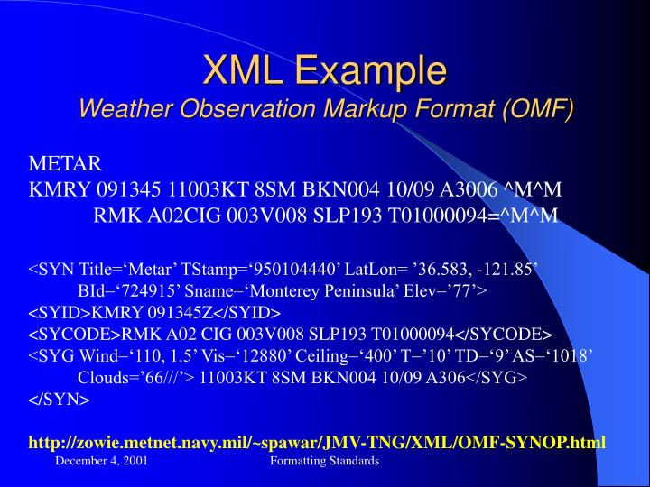 XML Example