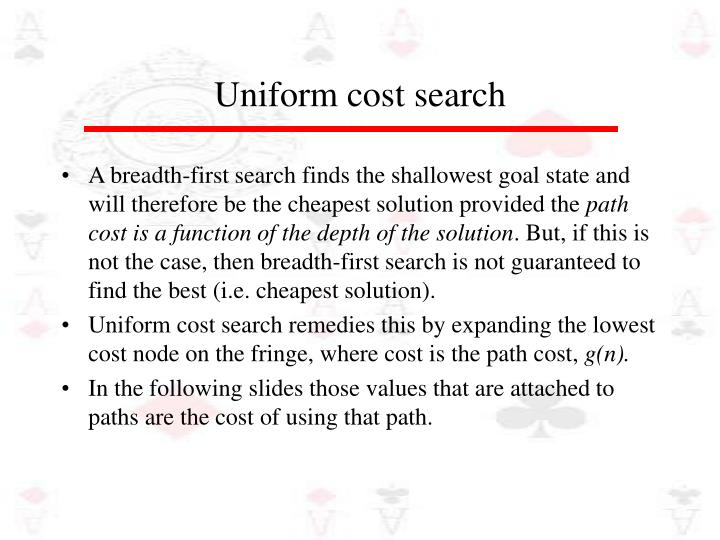 Uniform Cost 9
