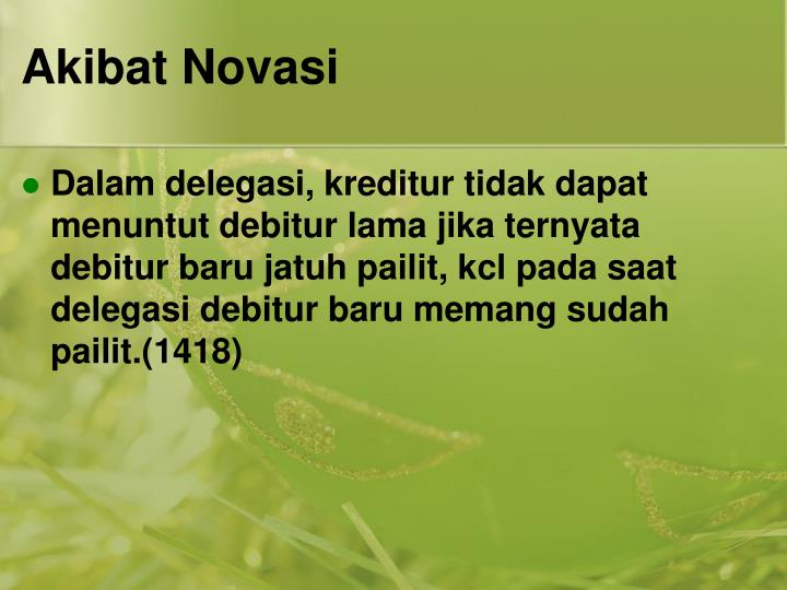 Akibat Novasi