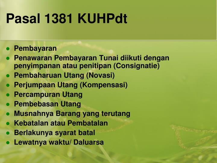 Pasal 1381 KUHPdt