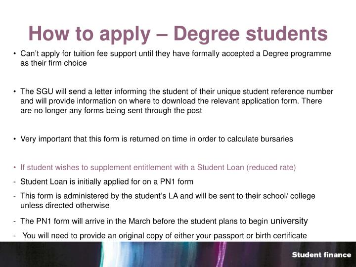 How to apply – Degree students