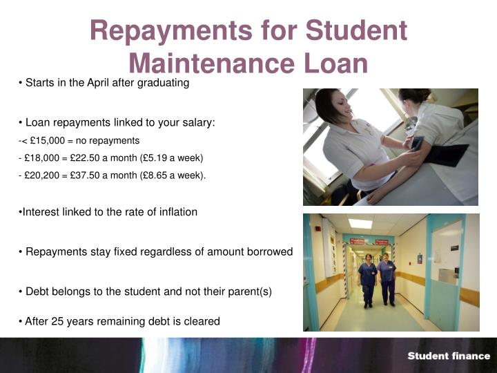 Repayments for Student Maintenance Loan