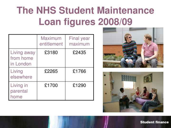 The NHS Student Maintenance Loan figures 2008/09