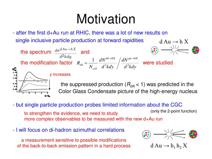 - but single particle production probes limited information about the CGC