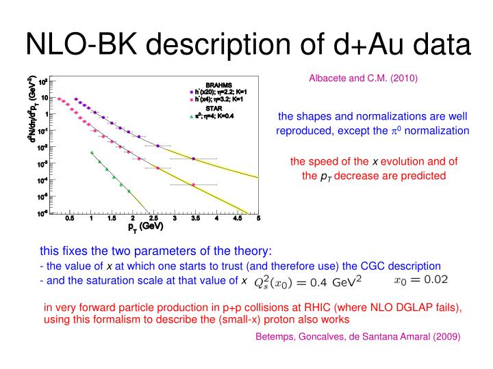 NLO-BK description of d+Au data
