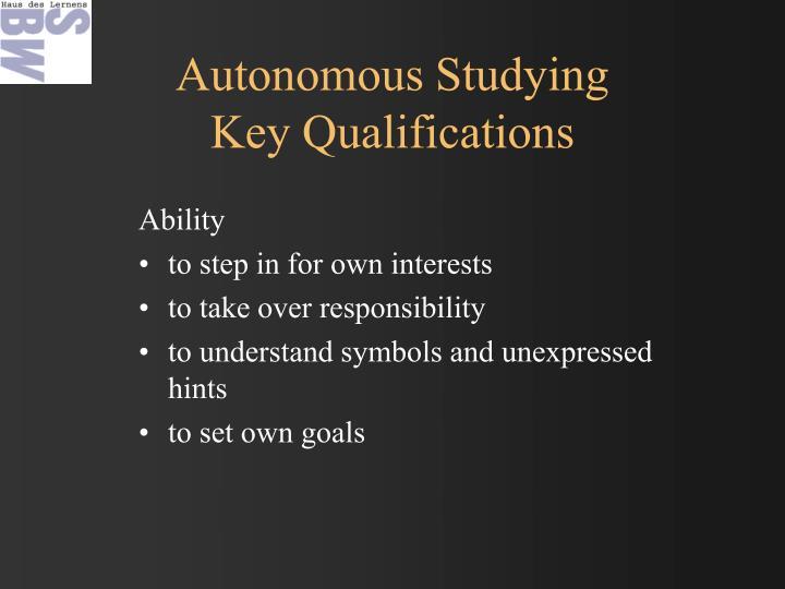 Autonomous Studying