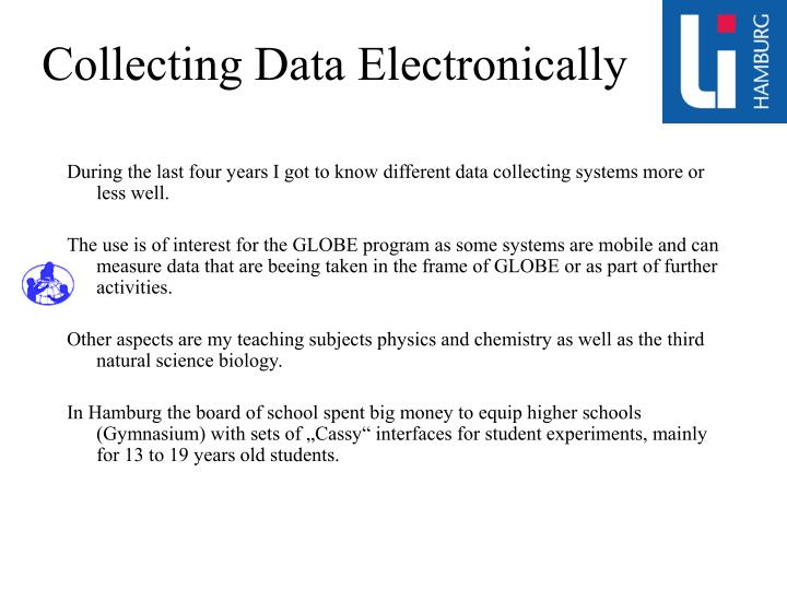 Collecting Data Electronically
