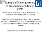 example of consequent use of autonomous studying sbw