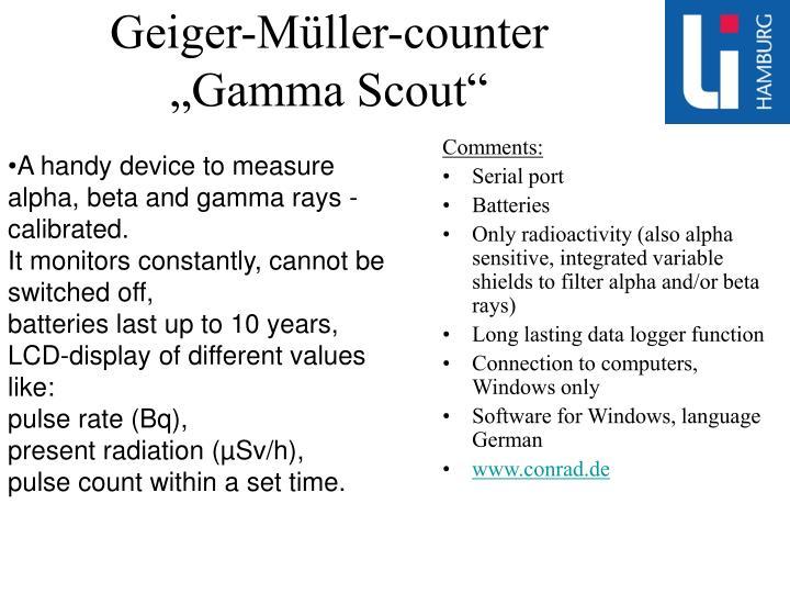Geiger-Müller-counter