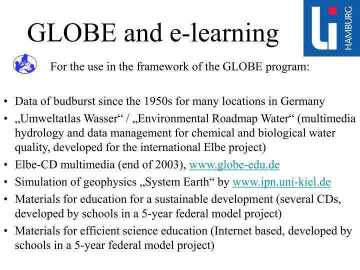 GLOBE and e-learning