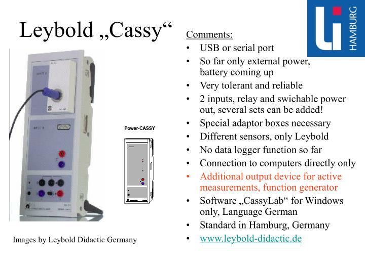"""Leybold """"Cassy"""""""