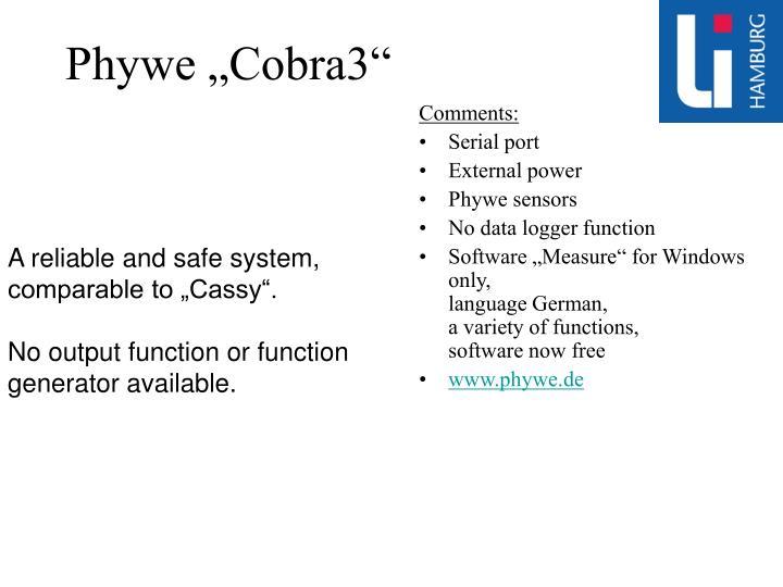 "Phywe ""Cobra3"""