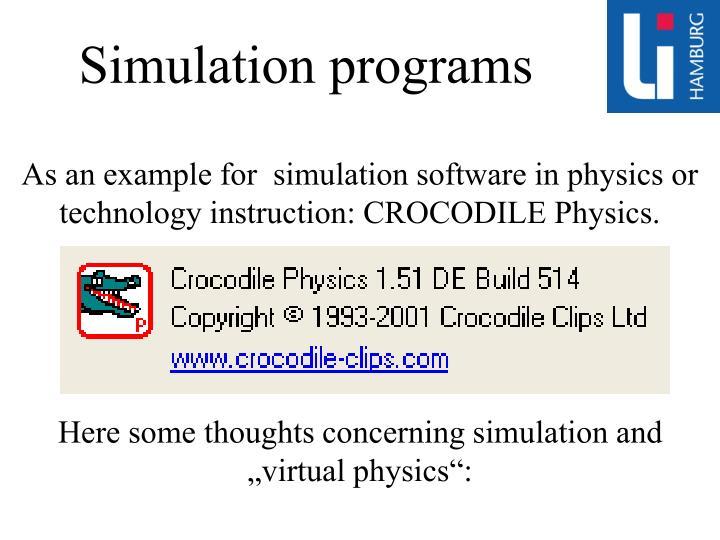 Simulation programs