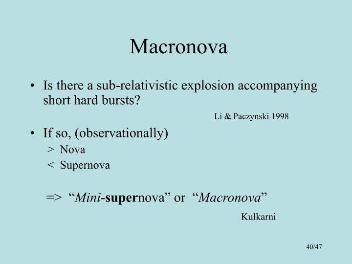 Macronova