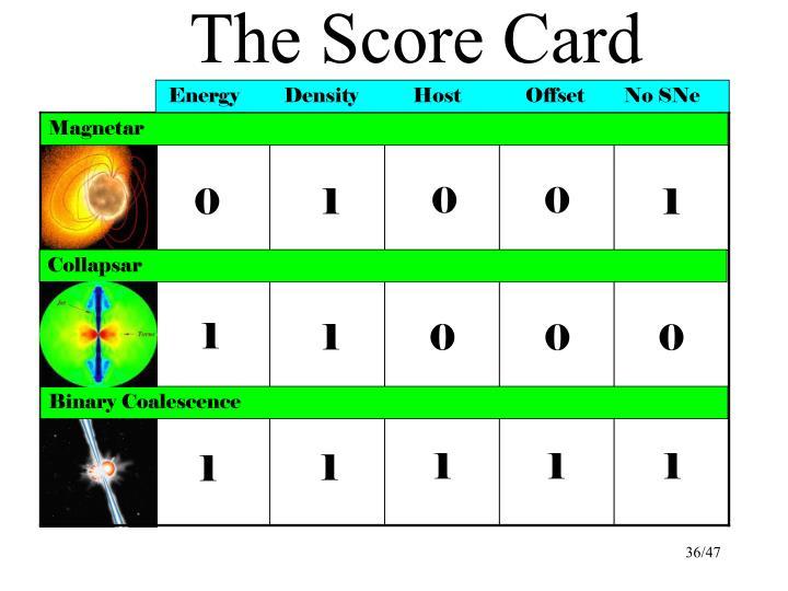 The Score Card