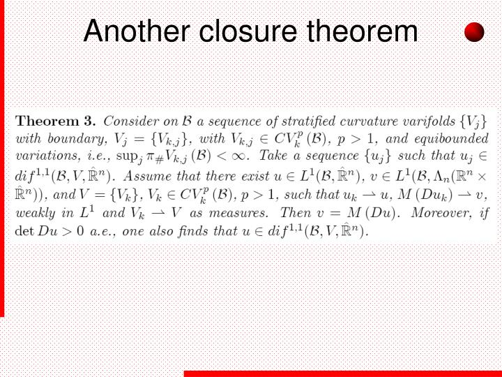 Another closure theorem