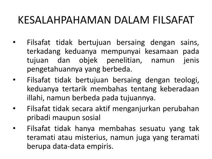 KESALAHPAHAMAN DALAM FILSAFAT