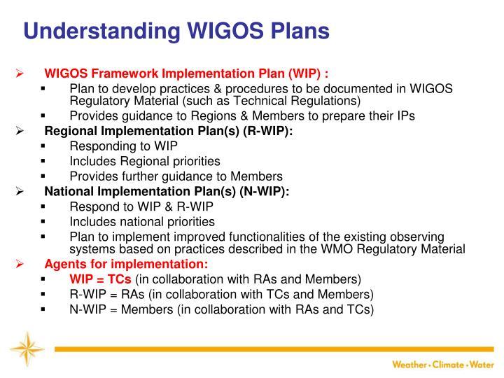 Understanding WIGOS Plans