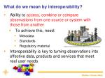 what do we mean by interoperability