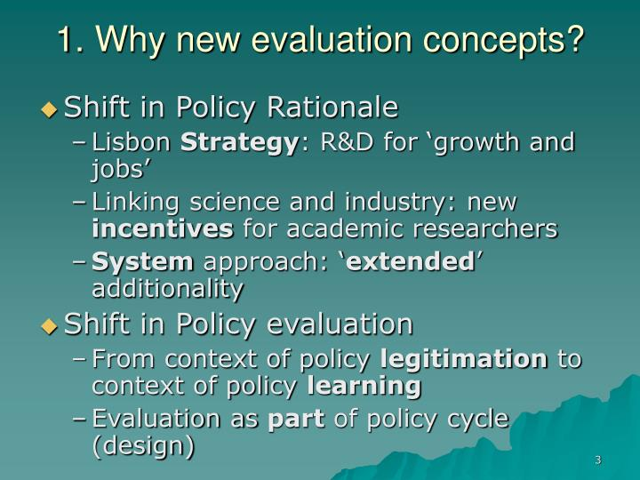 1. Why new evaluation concepts?