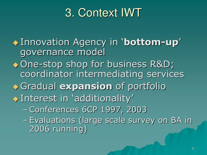 3. Context IWT