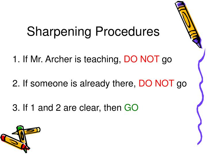 Sharpening Procedures