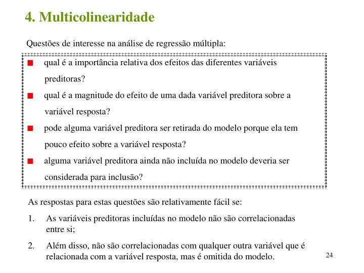 4. Multicolinearidade