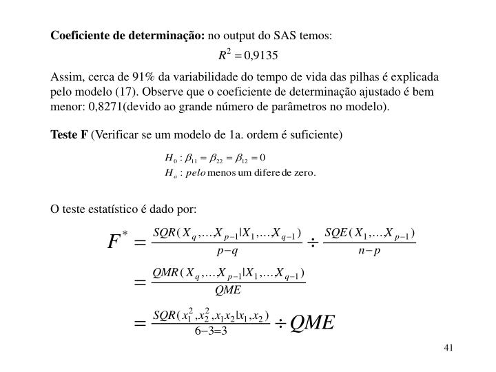 Coeficiente de determinação:
