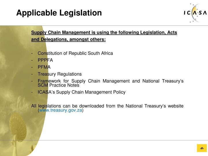 Applicable Legislation