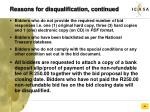 reasons for disqualification continued