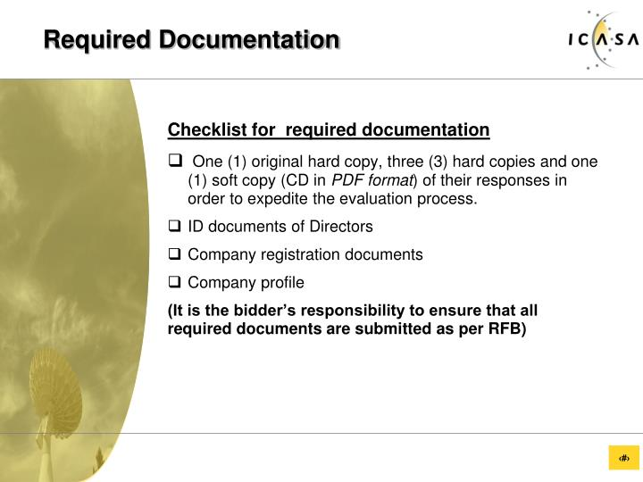 Required Documentation