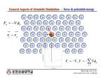 general aspects of atomistic simulation force potential energy