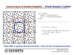 general aspects of atomistic simulation periodic boundary condition