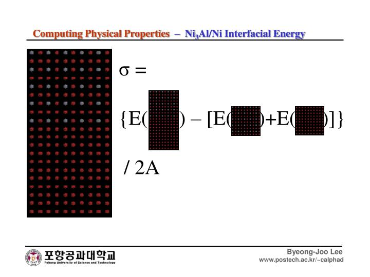Computing Physical Properties